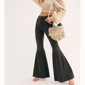 Black Free People flare jeans